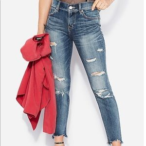Express Ripped Skinny Ankle Jeans